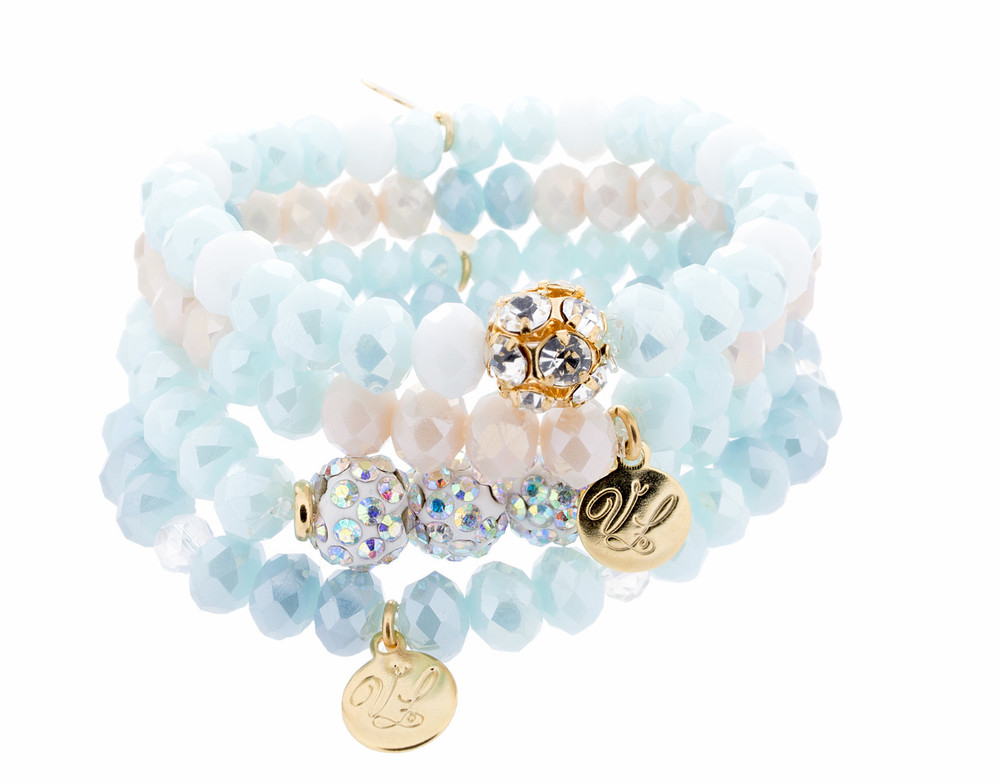Stack Bracelets - Set of 4 - Blues