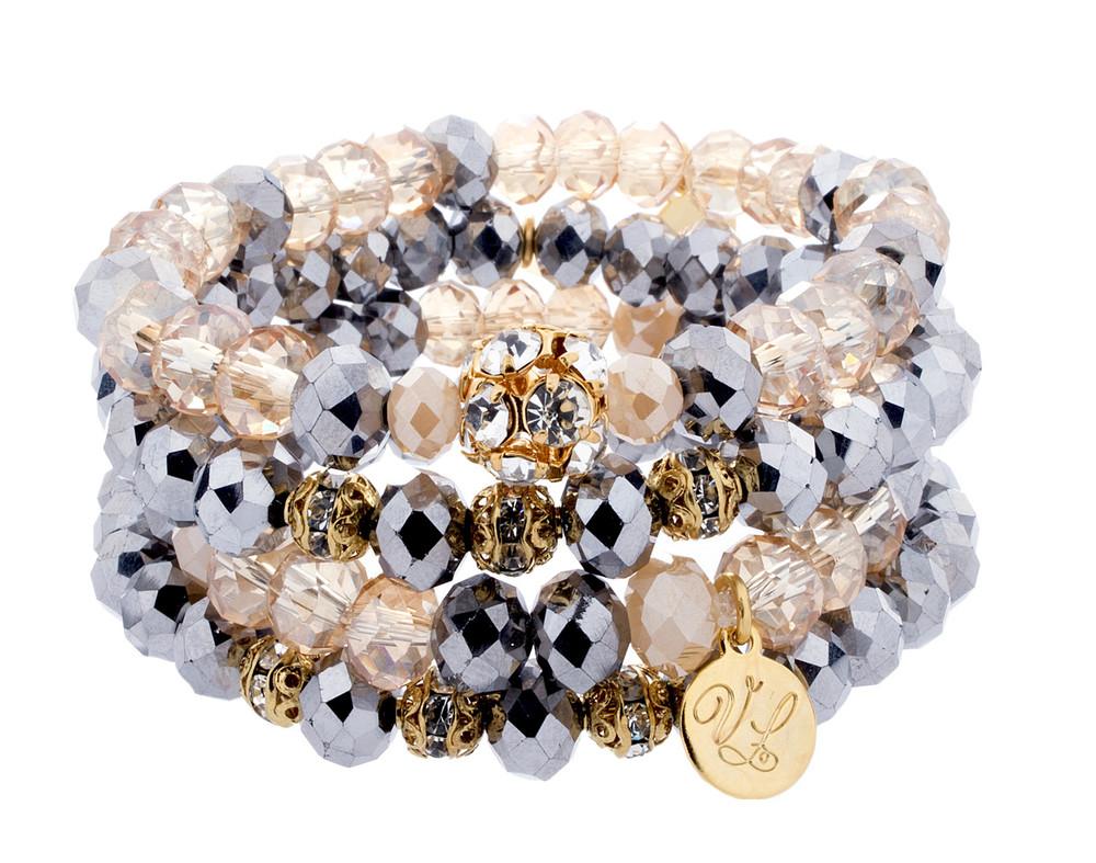 Stack Bracelets- Set of 4- Creams