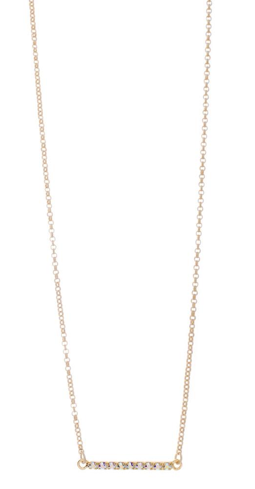 Necklace - Crystal Bar