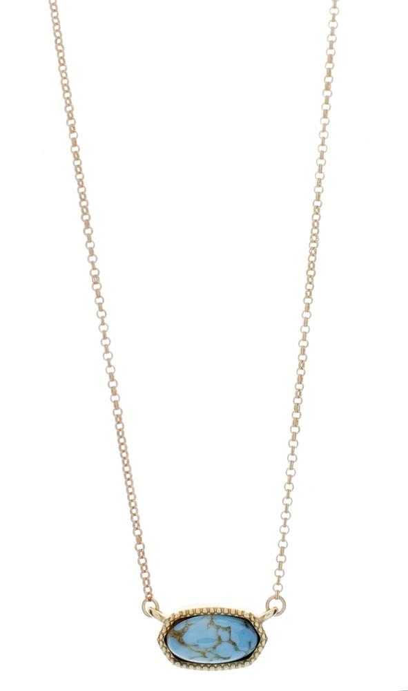 Ellipse Pendant Necklace