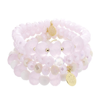 Stack Bracelets-Set of 4-Pinks
