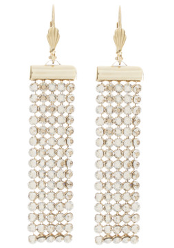 Crystal Sand Rectangle Earrings