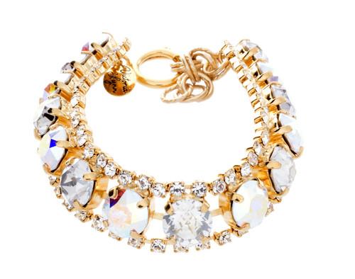 Bracelet 8mm Single Row Crystal Wrap