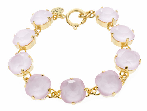 Bracelet - 12mm Rounded Square Goldtone