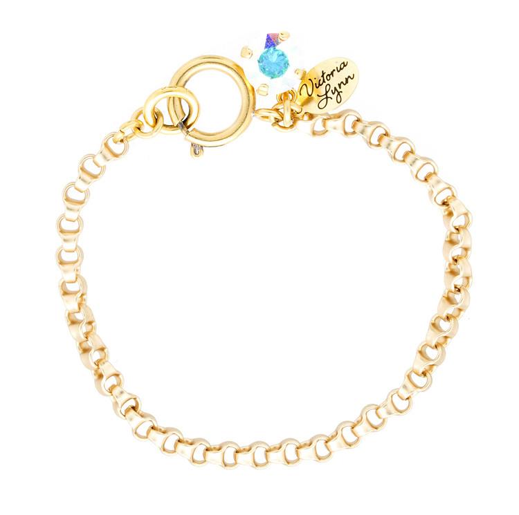 Bracelet 8mm Rollo Gold