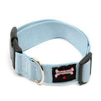 Smoochy Poochy  Nylon Collar - Baby Blue