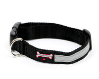 Smoochy Poochy  Nylon Collar Reflective  - Black