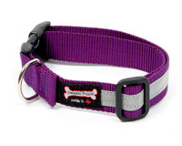 Smoochy Poochy  Nylon Reflective Collar - Purple