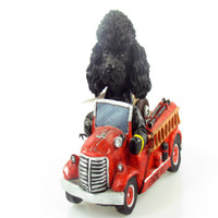 Doogies in Motion Fire Engine - Black Poodle
