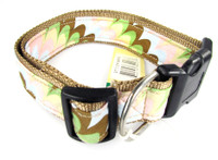 Canine Styles Collar - Venetian Stripes On Brown