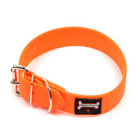 Smoochy Poochy Waterproof  Collar - Orange (Leather Alternative Material)
