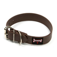 Smoochy Poochy  Waterproof  Collar- Brown  (Leather Alternative Material)