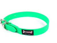 Smoochy Poochy Waterproof Collar - Green Apple  (Leather Alternative Material)