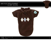 Millie Signature Argyle Sweatshirt - Brown/Blue