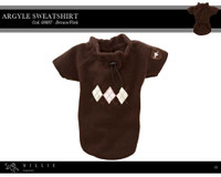 Millie Signature Argyle Sweatshirt - Brown/Pink