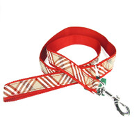 Canine Styles Leash - Plaid Red