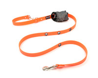 Smoochy Poochy Waterproof Hands-Free Leash - Orange  (Leather Alternative)