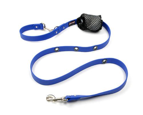 Smoochy Poochy  Waterproof Hands-Free Leash- Ocean  (Leather Alternative Material)