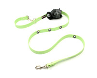 Smoochy Poochy Waterproof Hands-Free Leash  - Mint (Leather Alternative Material)