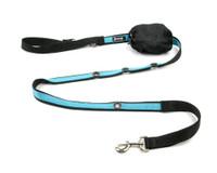 Smoochy Poochy 2Tone Hands-Free Leash - Black Turquoise
