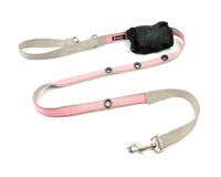 Smoochy Poochy 2Tone Hands-Free Leash - Silver Baby Pink
