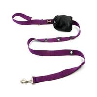 Smoochy Poochy Nylon Hands-Free Leash - Purple