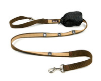 Smoochy Poochy 2Tone Hands-Free Leash - Brown Beige