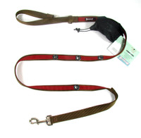 Smoochy Poochy 2Tone Hands-Free Leash - Brown Red