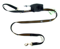 Smoochy Poochy 2Tone Hands-Free Leash - Black Brown
