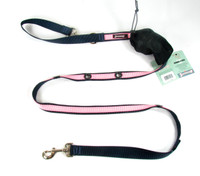 Smoochy Poochy 2Tone Hands-Free Leash -- Navy Baby Pink