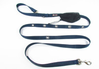 Smoochy Poochy  Nylon Hands-Free Leash - Navy