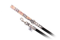 Buddy Belt Accent Leash Leather-Nylon Elite - Perfect Plaid