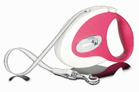 Flexi Collection Tape Retractable Leash - Red/Whie