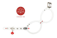 Buddy Belt Harness  Canada 150 - Red / white Crystals & Maple Leaf Charm