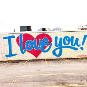 I Love You Mural Dallas // DTX338