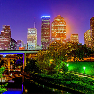 Houston Skyline // HTX024