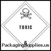 "D.O.T   Hazard Class Labels #DL5181 4 x 4"" Toxic - Hazard Class 6 Label LABDL5181"