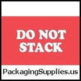 """Special Handling Labels #DL1960 3 x 5"""" Do Not Stack Label LABDL1960"""