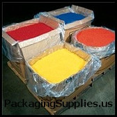 """Clear Pallet Covers & Bin Liners, 2 MIL 48 x 46 x 72"""" 2 Mil Clear Pallet Covers Bin Liners (100 roll) PC108"""