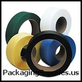 "8"" x 8"" Core Hand Grade Poly Strapping 1 2"" x 7,200` 031 600# 8 x 8 #H1260EGB072C7 Black Hand Grade Poly Strapping SPSH260"