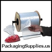 "3 x 3"" 1.5 Mil Standard Gauge Poly Bags On A Roll (5000/roll)   AB153"
