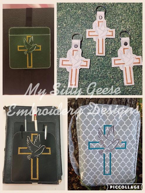 Both 4x4 & 5x7 Cross Dove Set