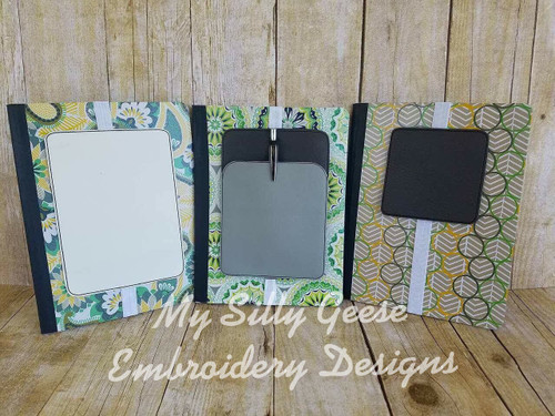 Blank Book Band Set - 4x4, 5x7 & 5x7 with pocket