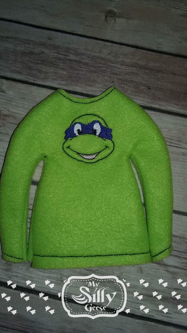 5x7 Elf Sweater Rounded Turtle Fighter
