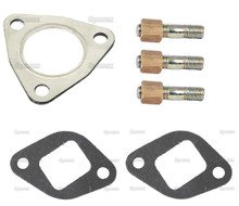 Exhaust Manifold Gasket & Stud Kit - Perkins A3.152 Engine - MF Tractor 135 150 230 235 245 & more