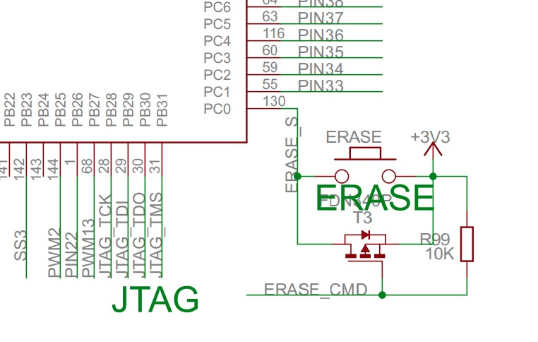 Arduino Due Schematics Erase CMD Section