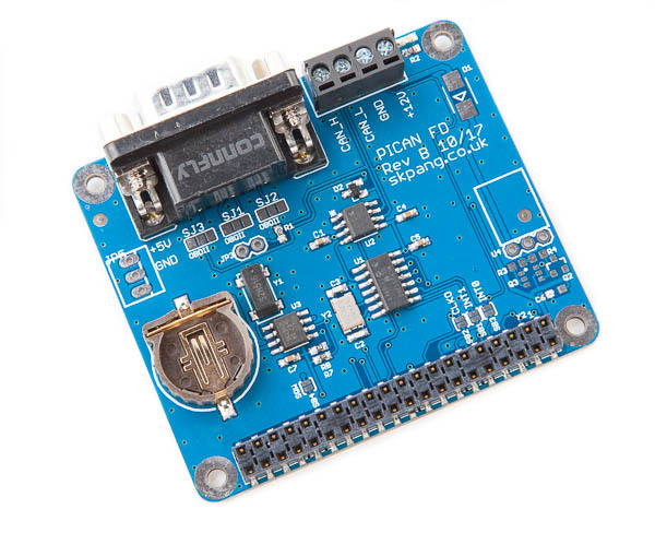 CAN Bus FD Board With Real-Time Clock For Raspberry Pi