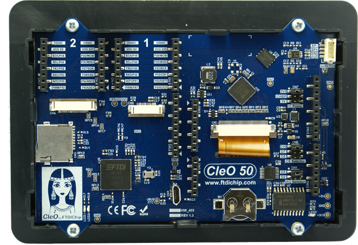 FTDI CleO50 - TFT Shield For Arduino With CAN Bus Interface