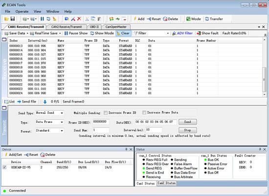 GCAN USBCAN-II Pro - ECAN Tools for Windows