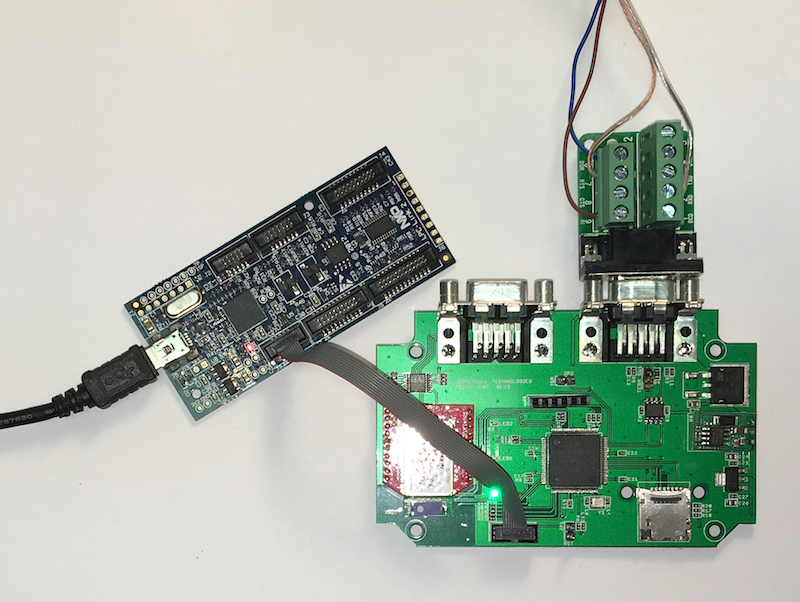 jCOM Board With SAE J1939 Interface and Bluetooth Wireless Connection